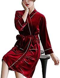 AXIANQI Pijamas Exquisita Pareja Primavera Y Otoño Albornoz Albornoz Hotel Hogar Bata A (Color :