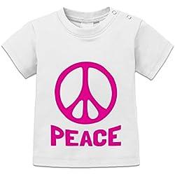 Camiseta de bebé Peace Slogan by Shirtcity