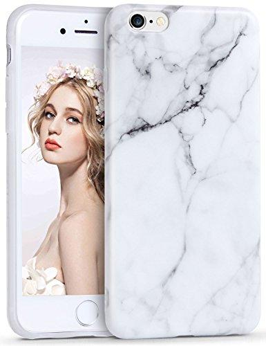 iPhone 6/6s Marmor Hülle, Imikoko Matt Weich Silikon Handyhülle Schlank TPU Schutzhülle