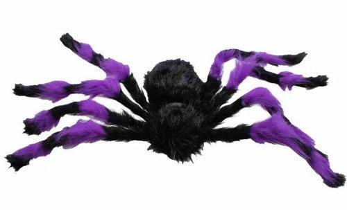 "Spider Halloween Plush - Black and Purple - 75cm 29"""