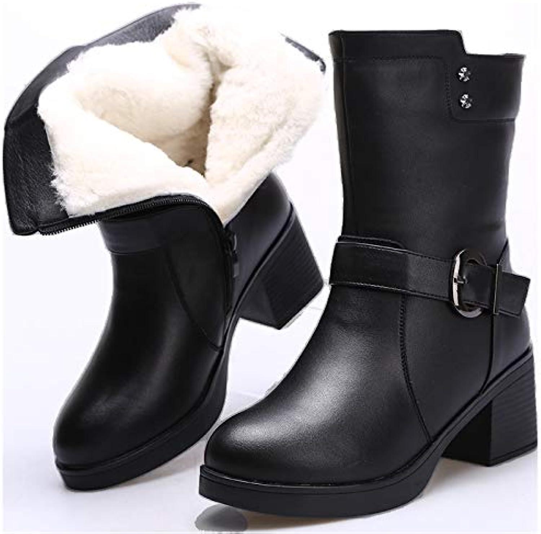 HOESCZS Wouomo Wouomo Wouomo scarpe Winter Wouomo stivali Cotton scarpe Winter Warm Head Layer Pu Inside, nero, 41 | Queensland  | Uomo/Donna Scarpa  5a85f3