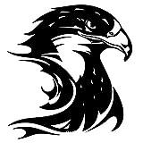 Autoaufkleber Aufkleber Fensteraufkleber Reflektierender amerikanischer Adler Adler der amerikanischen Flagge reflektierend weiß