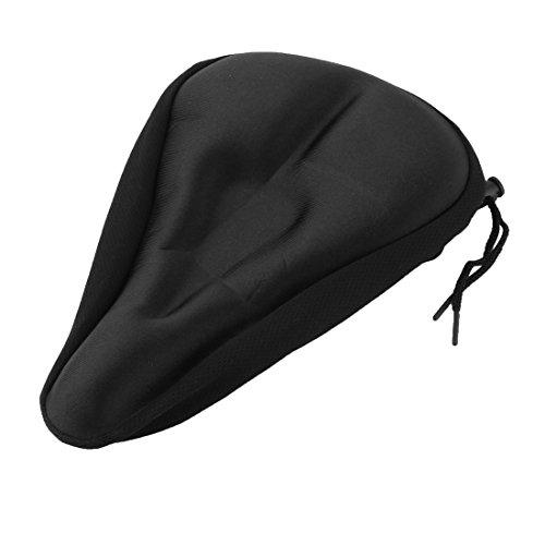 sourcingmap® Fahrrad Silikon Dreieck Nut entwickelt Sattel Sitz decken Kissen Pad schwarz (Sattel-pads Und Decken)