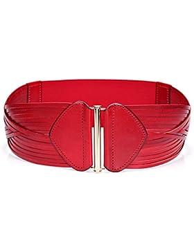 Señoras Anchura Cinturón,Decoración De Opresión Stretch Cinturón Distribución Vestido Anchura Las Correas