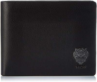 Guess - Lion Bold, Carteras Hombre, Negro (Black), 2.5x9.6x12.2 cm (W x H L)