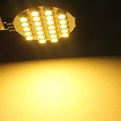 Everbrightt 10-pack bianco caldo G4121024SMD LED bi-pin rotonda casa luce di lettura RV camper marine luci DC 12V