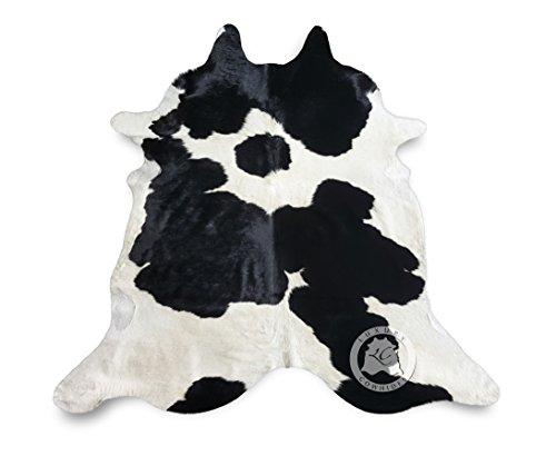 Teppich aus Kuhfell, Farbe: Schwarz und Weiß, Größe circa 180 x 210 cm, Premium - Qualität von Pieles del Sol aus Spanien