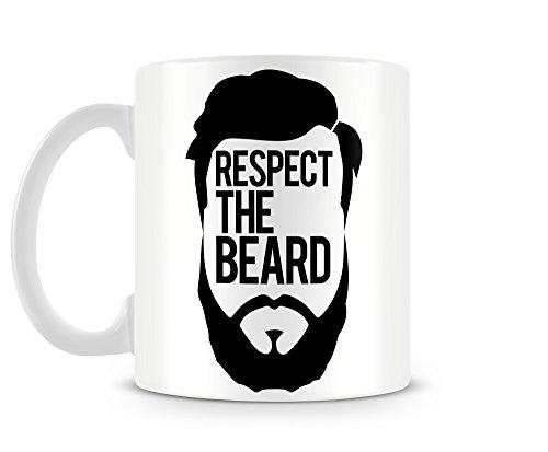 """Tazza MUG """"Respect the beard"""" - tazza da thè e caffè in ceramica"""