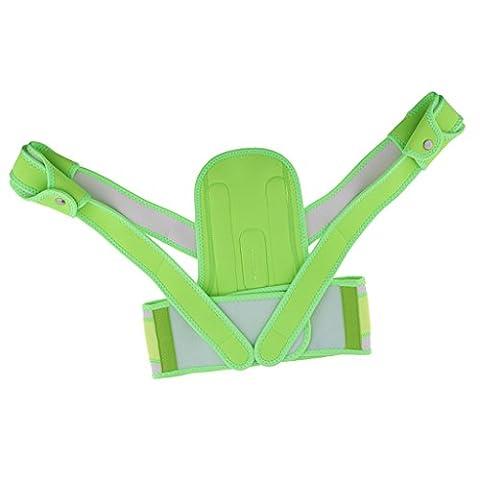 MagiDeal Posture Correcteur d'Épaule Ceinture Lombaire Support Posturale Corrective Thérapie pour Soulager la Douleur et Régler la Posture du Corps - Pour Enfants - M, Vert