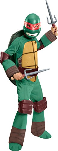 Ninja Kind Kostüm Green - TMNT Teenage Mutant Ninja Turtles Raphael Kostüm für Kinder (S)