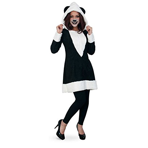 Damen Kleid Kostüm Panda - PARTY DISCOUNT NEU Damen-Kostüm Kleid Panda, Gr. 36, schwarz-weiß