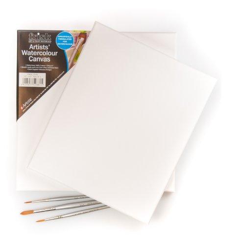 Frisk 18 x 14 pollici Acquerello su tela, confezione da 2, Bianco