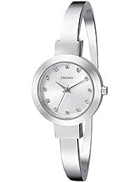 DKNY  NY2409 - Reloj de cuarzo con correa de acero inoxidable para mujer, color plateado