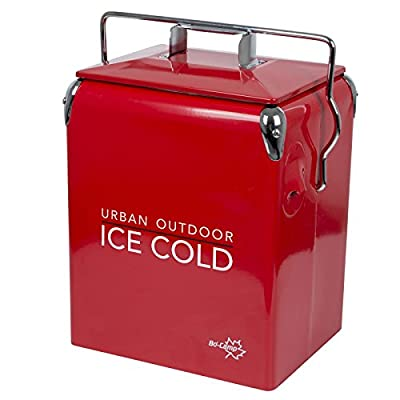 Bo-Camp Urban Outdoor Unisex's Greenwich Retro Cooler, Red, one size