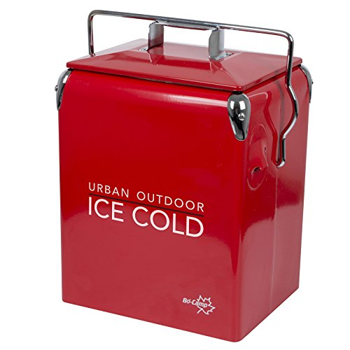 Bo-Camp Urban Outdoor 6703100 Retro Kühlbox Greenwich Camping Isolierbox Thermobox Kühltruhe Outdoor 17 L