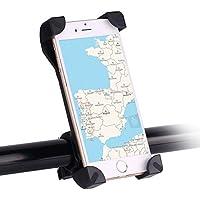 Awnic Supporto Smartphone per Bici Ultra Stabile 4 Angoli Bloccati Silicone Slittamento Universale per 3.5 '' a 6.5 '' iPhone Android Smartphone GPS, etc.