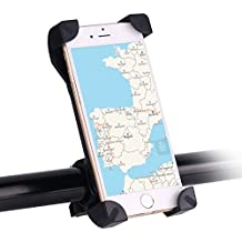 Awnic Supporto Smartphone per Bici Ultra Stabile 4 Angoli Bloccati Silicone Slittamento Universale per 3.5 '' a 6.5 '' iPhone Android Smartphone GPS,