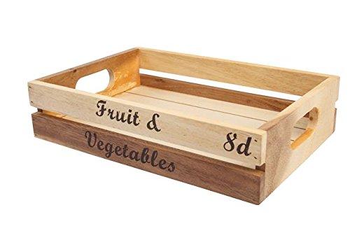 T&G Woodware baroque Caisse de fruits et légumes, Acasia, Taille M