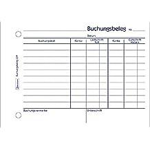AVERY Zweckform Buchungsbelege/309, weiß, DIN A6quer, Inh. 50 Blatt