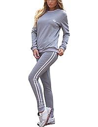 Tomwell Mujer Chándales 2 Piezas Set Deportes Gimnasio Entrenamiento de  Yoga Manga Larga Sweatshirt + Pantalones f46e4e72bdda0
