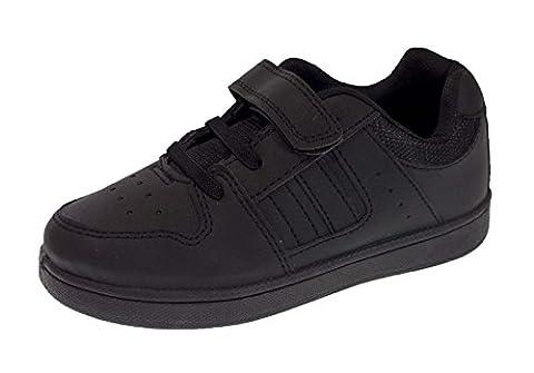 LD Outlet , Baskets mode pour homme Noir noir - Noir - Black Velcro And Laces, 42 EU