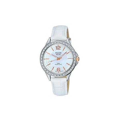 Seiko Pulsar Reloj Mujer Solar Piel Blanco py5013X 1