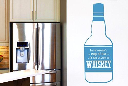 Everyones Tasse Tee im mehr von EIN Shot von Whiskey Wall Sticker Art Aufkleber-Groß (Höhe 120cm x Breite 44cm) blau ()