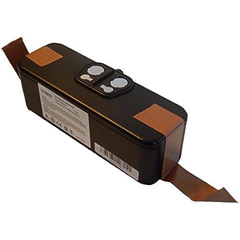vhbw Li-Ion batería 4500mAh (14.4V) para aspiradora aspiradora robótica iRobot Roomba 620, 625, 630, 650 por 11702, GD-Roomba-500,