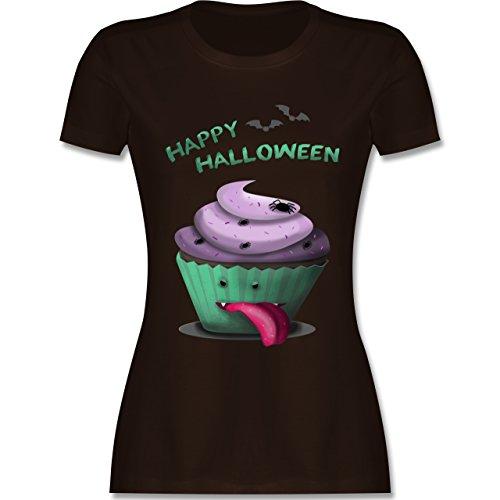 Halloween - Halloween treats - tailliertes Premium T-Shirt mit Rundhalsausschnitt für Damen Braun