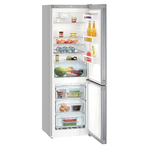 Liebherr CNEL4313 Freestanding NoFrost 304 litre Fridge Freezer Silver with DuoCooling SuperFrost Function, Digital Temperature Display, Reversible Door, 60cm Width