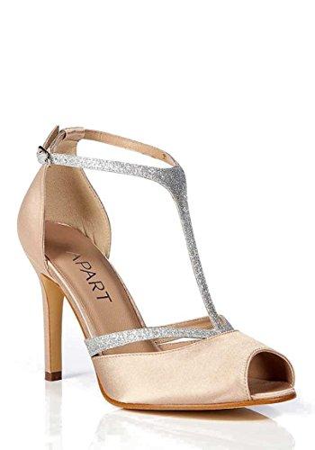 APART Damen-Schuhe Abendsandalette Weiß Größe 41
