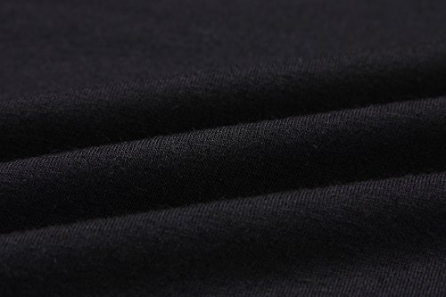 Saoye Fashion Donna T Shirt Manica Lunga Rotondo Collo Stampa A Strisce Giuntura Eleganti Basic Slim Fit Fashion Vintage Unique Casual Autunno Inverno Maglietta Unico T-Shirt Tshirt Top Blusa Nero