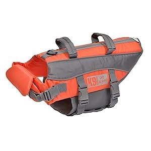 K9 Pursuits High Visibility Easy Grab Float Coat Life Jacket, X-Large