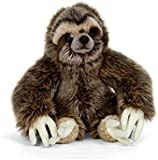 Lying Sloth (with velcro on feet) Plush Soft Toy bh Living Nature. AN401. 30cm