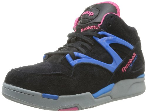 Reebok Pump Omni Lite, Baskets mode femme Noir (Black/Candy Pink/Blue/Grey)