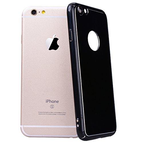WE LOVE CASE iPhone 6 / 6S Coque, Étui de Protection en Premium Hard Plastique Dur Housse Mince et Clair, Bumper Cas Anti-Rayures Couverture Anti-dérapante Coque pour Apple iPhone 6 iPhone 6S - noir