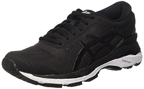 Asics Women's Gel-Kayano 24 Running Shoes, Black (Black/Phantom/White), 7 UK