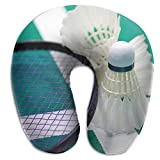 ruishandianqi Cuscini U-Shaped Neck Pillow Badminton Pillows Soft Portable for Travel Reading Sleeping