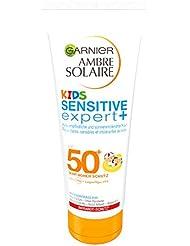Garnier Ambre Solaire Kids Sensitive Expert+ LSF 50+ für empfindliche Haut, 1er Pack (1 x 200 ml)