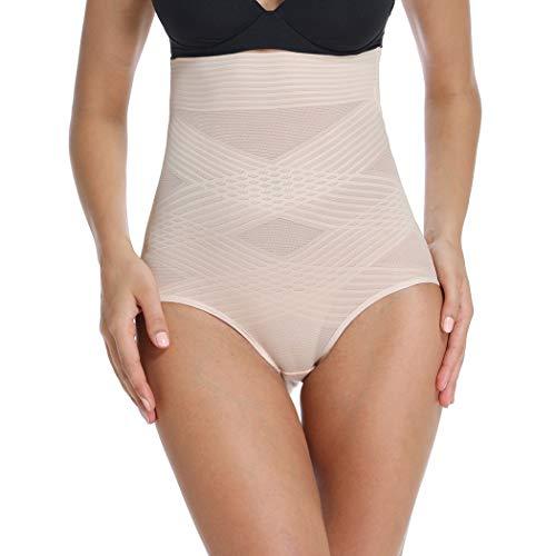 Shapewear Panty für Frauen Body Shaper Slips Hohe Taille Bauchkontrolle Panty Nahtlose Shaping Girdle Shorts Unterwäsche - Beige - Mittel