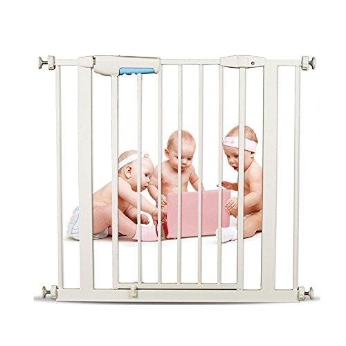 YNN Escalier Barrière Bébé Porte de Sécurité Enfant Clôture Pet Chien Clôture Pôle Isolation Porte Fit Porte Largeur 75-82cm