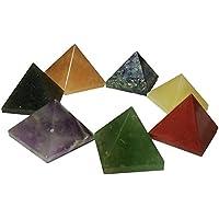 Heilung Kristall Reiki 7Chakra Natürliche Edelstein Pyramide poliert Stein Kristall Reiki Energie geladen Set... preisvergleich bei billige-tabletten.eu