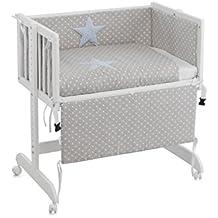 Funny Baby Codream - Minicuna, diseño topos, color azul