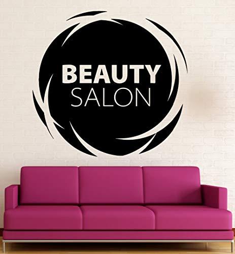 jiuyaomai Spa Salon Logo Wandtattoo Zitate Schönheitssalon Vinyl Wandaufkleber Design Zeichen Mädchen Schönheitssalon Innen Kunstwanddekor 57x61 cm