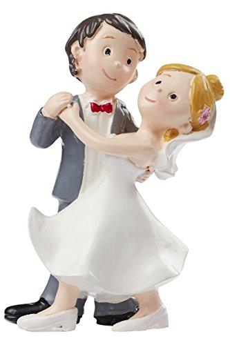 Hochzeitspaar tanzend Hochzeit Figur Deko Brautpaar 8 cm