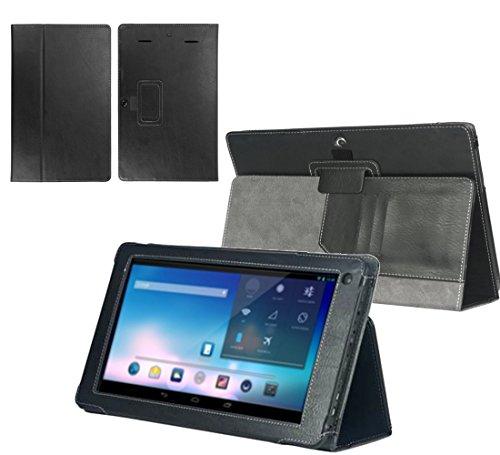 Navitech Executive Premium bycast Leder Case/Cover / Tasche/Etui mit Standfunktion für das Odys Ieos Quad white Edition X610092 10,1 Zoll Tablet PC