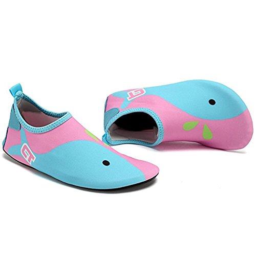 Sapatos De Meias Praia Multifuncionais Exercício Rápida Aqua Crianças De Acender Secagem Descalças De Para De Rosa Surf Piscina Azul Claro Água Yoga wEvxwpXq