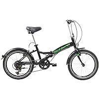 F.lli Schiano Pure, Bici Pieghevole Unisex-Adult, Nero-Verde, 20''