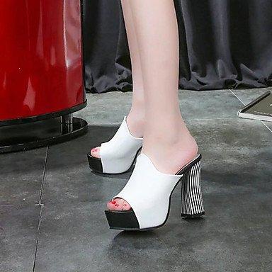 LvYuan Da donna-Sandali-Formale Casual-Comoda-Quadrato-PU (Poliuretano)-Nero Rosso Bianco Red