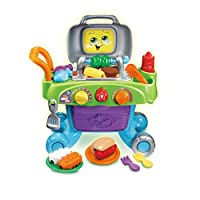 LeapFrog Smart Sizzling BBQ Grill Toy BBQ | Kids Kitchen BBQ Playset with Play Food, Play Kitchen Accessories, Counting & Sounds | Kitchen BBQ, Christmas Gifts for Boys & Girls 2, 3, 4, 5 Year Olds
